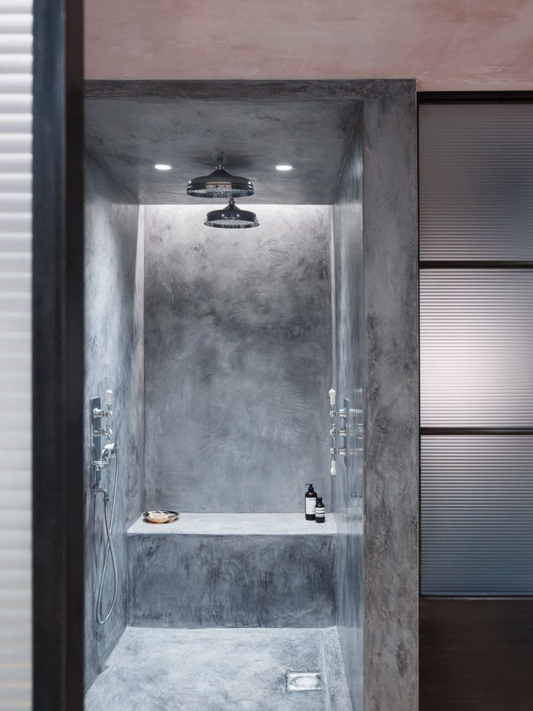 concrete showers